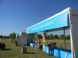 On March 15th Travis, Stacie and I volunteered for the Phoenix Brain Tumor Walk to raise funds for research of a cure.